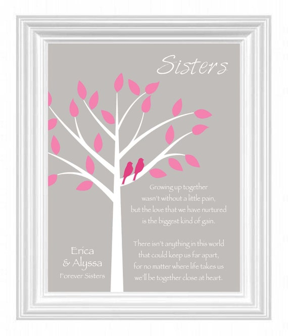 SISTERS Gift Print Personalized Gift For By KreationsbyMarilyn