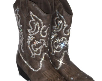 Bling Bling womens cowboy boots boots with by Timetwochange
