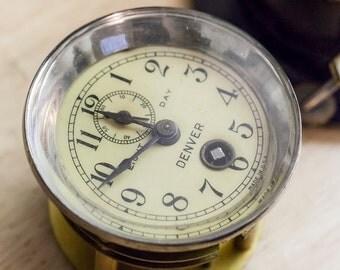 "Phinney-Walker  ""Denver"" 1920's 8-day, key wind, Automobile clock."