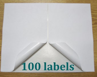 100 Shipping Labels Self Adhesive Printer Paper 8.5 x 5.5 Half Sheet USPS UPS FedEx PayPal Etsy Postage