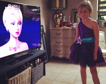 Barbie Princess and Popstar Keira Purple Convertible Dress Costume for Girls