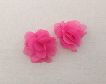Bubble gum pink hair clips