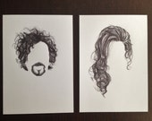 Tim Burton & Helena Bonham Carter Celebrity Hair Portraits