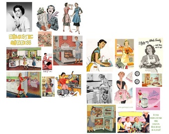 Domestic Goddess Digital Collage Sheets