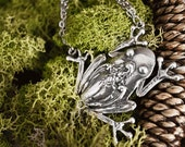 "Spoon Necklace: ""Tree Frog"" by Silver Spoon Jewelry"