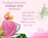 Sleeping Princess Beauty Birthday Invitation