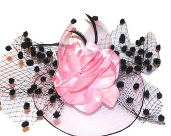 Pink Fascinator attached with clip
