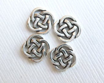 Antiqued Silver Small Celtic Knot Links --   4 Pieces Pewter Tierracast Findings 94-3033-12