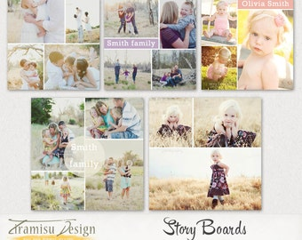 Blog Board Templates ,Story Board Templates, Instagramm  Photoshop Templates, vol.15, INSTANT DOWNLOAD