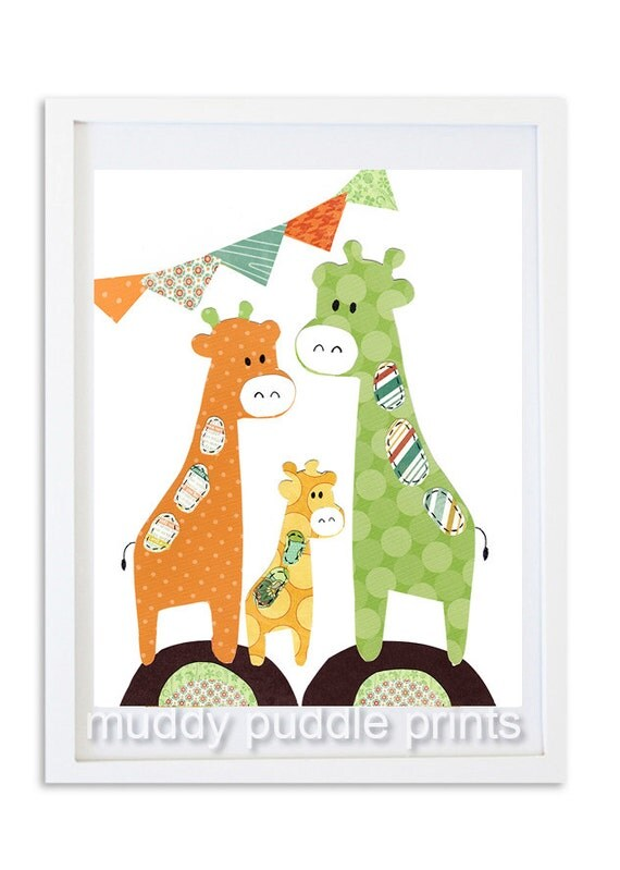 giraffe nursery print nursery decor nursery safari
