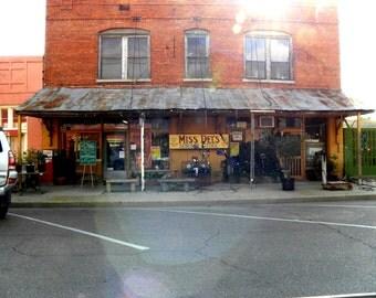 Mrs. Del's General Store, Historical, Clarksdale, Fine Art Photo, Landscape Photo, Color Photography