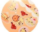 Kawaii pikachu pokemon dessert sticker sheets