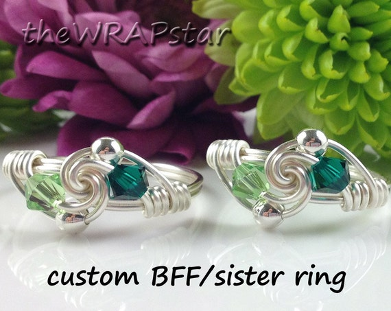 items similar to birthstone friendship rings personalized