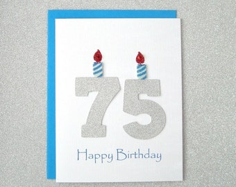 75th Birthday Card, 75th Milestone Birthday Card, 75th Birthday Greeting Card, Seventy Fifth Happy Birthday Greeting Card, The Big 75 Card
