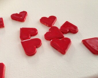 New Thickness for Ceramic Heart Tiles -Size 3/4 inch by 3/4 inch by 1/8