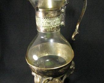 Vintage Coffee Carafe, Silver Plate, Wedding Server, Pitcher, Vintage Server