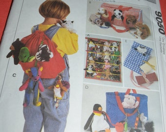 McCalls 9050 Accessories for Bean Bag Babies Sewing Pattern - UNCUT -