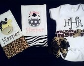 Baby Girl Gift Set - Safari Animals