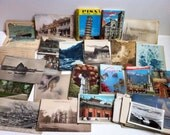 Postcard and paper lot - travel memories Europe and Asia
