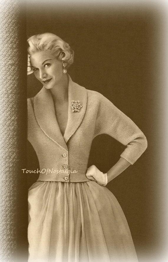 ELEGANT EVENING Jacket Knitting Pattern Pure ELEGANCE