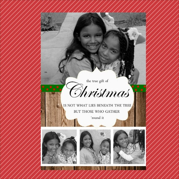 4x6 Photo Christmas Cards Digital Download By