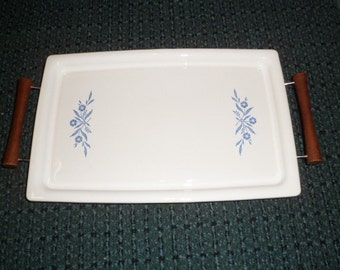 Mint Corning Cornflower Rectangle P 35 B Broil Bake Tray with Serving Rack