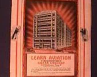 Beautiful 1928 Chicago Greer College Aviation Brochure