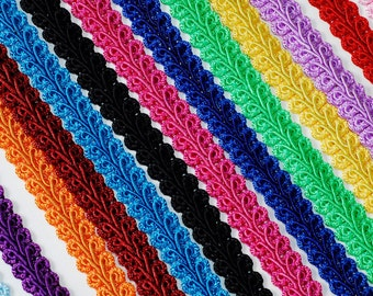 "Set of Assorted 3/8"" Wide Braided French Gimp Trim Ribbon Scrapbooking 25 Yards Spools (CHOOSE YOUR COLORS)"
