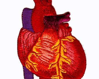 heart embroidered patch