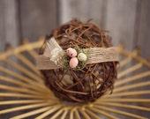 Newborn {Mother Goose} Jute Headband, Newborn Photography Prop, Easter/Spring Photography Prop