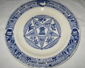 1950 Kettlesprings Kilns Plate: Centennial Year, Order of the Eastern Star, Ohio