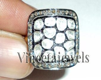 Evergreen .925 Sterling Silver Victorian Inspired 1.50Ct. Rose Cut Damond Ring