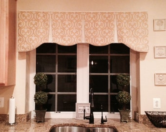 """Valance Custom EMILEE Hidden Rod Pocket® Valance to fit 56""""- 80"""" window, made using your fabrics, my LABOR and lining"""