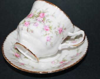 "PARAGON Fine Bone China Demi tasse Teacup and Saucer Sets ""Victoriana Rose"""