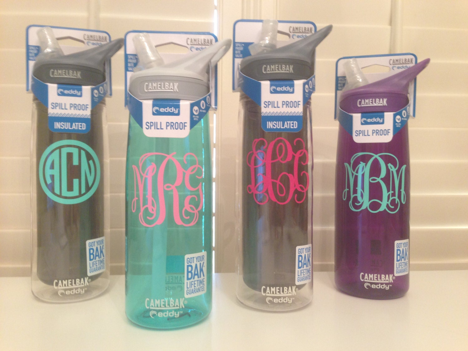 Monogram Stickers For Water Bottles