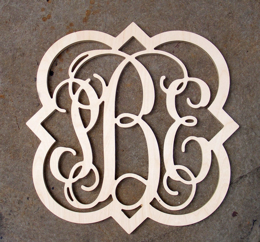 large monogram letters 24 inch large vine connected wooden monogram letters 22692