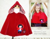 Childrens cape sewing pattern PDF, toddler cape pattern, Costume pattern, girls cape pattern, girls pattern pdf, costume pattern, MAISIE