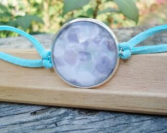 Beautiful Light Pastel Bracelet, Silver Tray