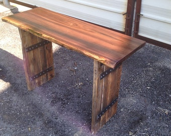 Sensual Live Edge Sofa Table