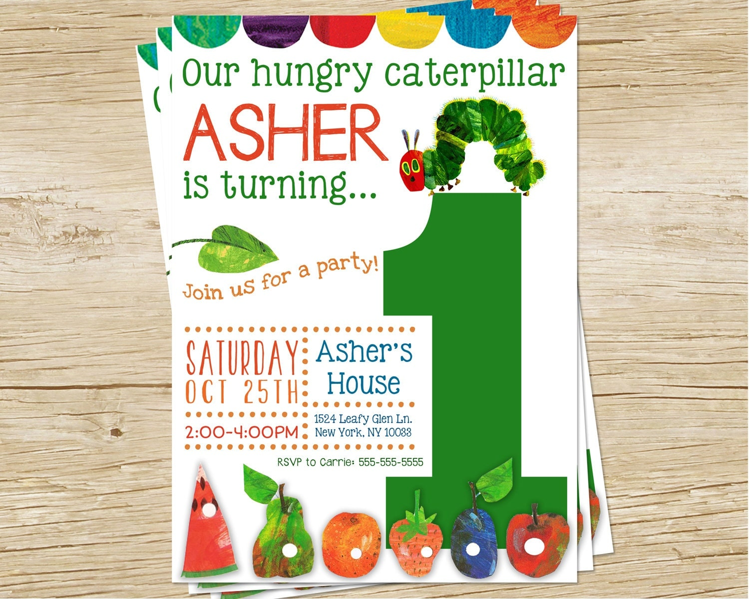 hungry caterpillar birthday party invitation hungry. Black Bedroom Furniture Sets. Home Design Ideas