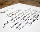 Handwritten Calligraphy for a Personalized Photo Album or Guest Book from Albumeria