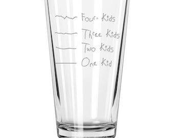 Father's Helper by Caloric Cuvee: The kid counting pint glass - gift for dad - baby shower gift - made in USA