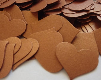 100 copper cardstock confetti hearts