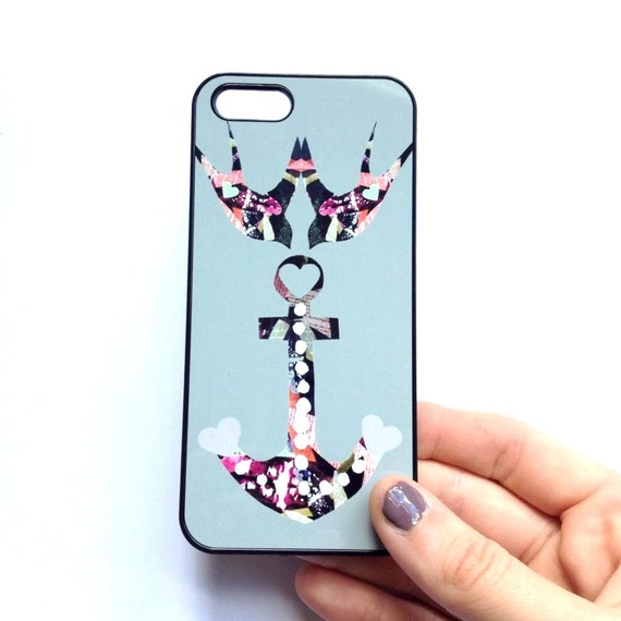 Swallow & Anchor Phone Case - iphone 6 plus, iphone 5, iphone 5c, iphone 4/S, Blackberry, Sony, Samsung, HTC, Nokia