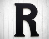 """Wooden Letters Wedding guest book R 30"""" Serif style Black Wall decor Signage Wedding Gift ideas"""