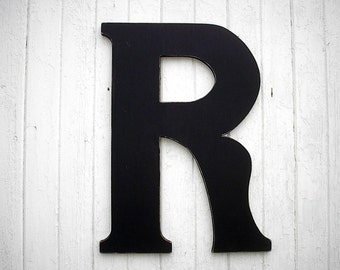 """Wedding guest book R 30"""" Wooden Letters Extra large Black Serif style Wall decor Signage Wedding Gift ideas"""
