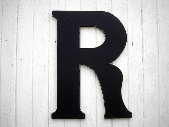 Wedding guest book r 30 wooden letters extra large black for Large black wooden letters