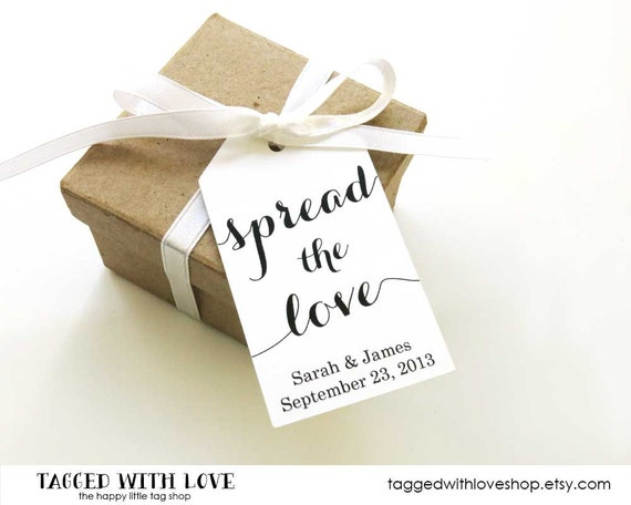 Spread the Love Tag - Jam Wedding Favor - Honey Wedding Favor - Spread Wedding Favor - Wedding Favor Ideas - Custom Tags - MEDIUM
