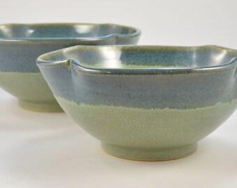 Small Pottery Nesting Bowl Set, Serving Bowl Set Stoneware