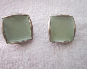 Antique Enameled Retro Clip on Earrings